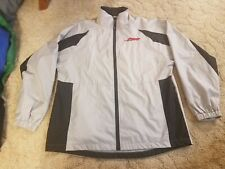 BMW i5 S1000 RR Lined Full Zip Windbreaker Jacket Gray Black Sz L