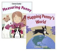 Mapping Penny's World & Measuring Penny (pb) Loren Leedy 2 Book Set NEW
