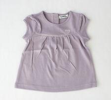 """Camiseta violeta de manga corta de niña """"Corazón"""" (talla 6 meses)"""