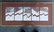 Julian Caso - Listed Cuban American Artist Orig Signed Abstract Watercolor 18x40