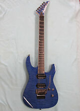 Jackson SL2Q MAH Soloist Pro Series Electric Guitar - Transparent Blue
