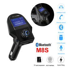 Q7SFreisprechanlage FM Transmitter Auto Bluetooth Radio Musik Player USB Adapter