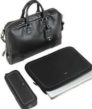 Tumi Georgetown FORREST ATTACHE LEATHER Bag Laptop Case Black 3 pcs 73232DL $595