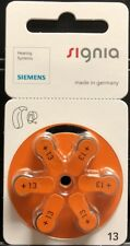 60 Signia Siemens Hearing Aid Batteries. Orange Size 13. Expire 02/2020