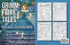 Grimm Fairy Tales Adult Coloring Book Relax Art Cinderella Beauty Snow White New