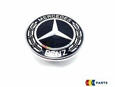 NEW GENUINE MERCEDES-BENZ BLACK WREATH FLAT BONNET BADGE EMBLEM 	A0008171701