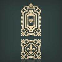 (1155) STL Model Door for CNC Router 3D Printer  Artcam Aspire Bas Relief