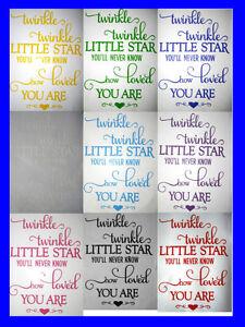 Twinkle Twinkle Little Star   Nursery Decor   Baby Decor   Wall Sticker   A4