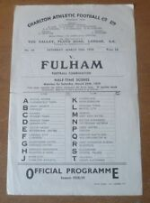 Away Teams Fulham Written - on Football Programmes