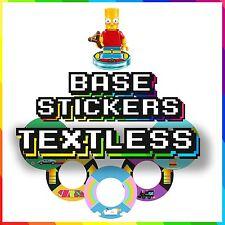 LEGO le dimensioni base/Adesivi Etichette-versione senza testo - 48 disegni unici