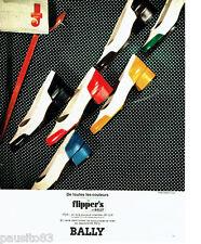 pubblicità pubblicità 026 1973 BALLY scarpe Di Flipper Fox