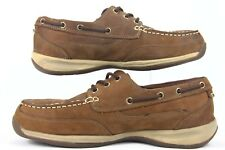 Rockport Works RK676 Men's Sailing Club 3 Eye Non Slip EH Rated  Boat Size 11.5