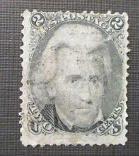 1863 US S#73 2c Jackson, black Used?? Hinged With Gum