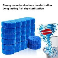 10 pcs Blue Toilet Cleaning Blocks Deodorising Sanitising Flush Home Cleaner