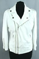 GUESS White Denim Zipped Closure Long Sleeve Woman Jacket Size EU M