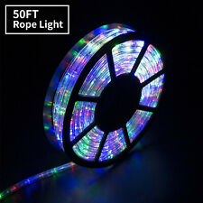 50 FT Multicolor LED Rope Light 110V Outdoor Xmas Party Home Garden Wedding