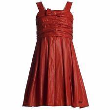 NWT BURBERRY Kids RED BRICK STRAP SHIMMER DRESS 9 - 10 SZ 10Y GIRLS