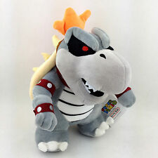 "Dry Bowser Super Mario Bros Bones Koopa Troopa Soft Plush Toy Stuffed Animal 9"""