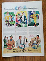 1942 Wilson Brothers Sportswear Shirts Pajamas Ad Why Lionel's Never  Bridegroom