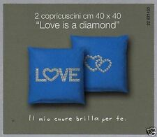 Copricuscini Cuscini Arredo Bassetti Love Diamond Blu Prezzo Offerta