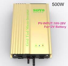 500w 12v Grid tied inverter for PV DC input 16v-28v For 12V Battery discharge
