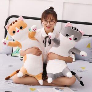 Long Cat Pillow Girls Plush Pillow Soft Stuffed Animal Cushion Comfortable Gift
