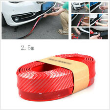 Car SUV Red Front Bumper Quick Lip Splitter Spoiler Skirt Rubber Protector 2.5M