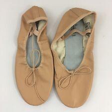 Revolution Dancewear Premium Split-Sole Leather Dance Shoes #100, Size 9.5M,Pink