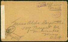 Russia/U.S. Occupation 1918 cover/FIVE censor markings