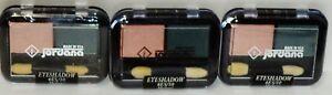 3 JORDANA Duo Eye Shadows W Dual Applicator MELON & TEAL #10 Sealed Compact RARE