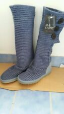 BNWT Mark Stone whistler knit  GENUINE SHEEPSKIN cardy ugg boots Ladies 8-9 blu