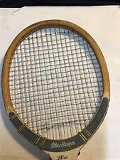 Great Wooden Collectible Vintage TENNIS RACKET...MacGregor  LLOYD BUDGE...4  1/2
