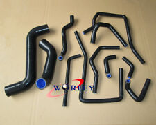 BLACK Silicone Radiator Hose for Subaru Impreza WRX/STi GDA/GDB EJ207 2002-2007
