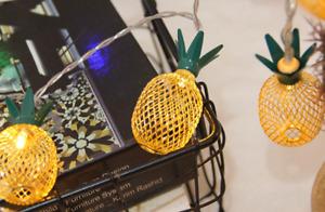 LED Iron Pineapple Lamp ball Twinkle Lights String Christmas Wedding Decoration