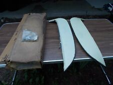 64 1964 65 1965 Chevelle Malibu SS NOS Foxcraft Stainless Fender Skirts W/Clips