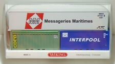 "Wiking H0 001824 Zubehörpackung "" Container "" 3 Teile  NEU & OVP"