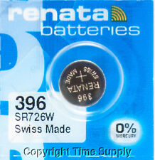1 pc 396 Renata Watch Batteries Swiss Made SR726W 0% MERCURY