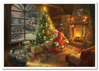 Thomas Kinkade DISNEY-Santa's Workshop Christmas Tree Fairy-tale postcard modern