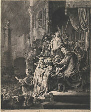 Rembrandt Reproductions: Christ Before Pilate: Large Plate: Fine Art Print