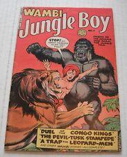 Wambi, Jungle Boy  # 7 ...FINE-... 5.5 grade--RC....1950 comic book