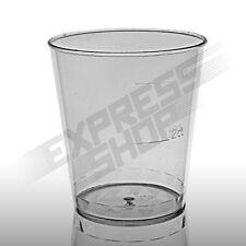 Schnaps Becher Gläser Einweg Plastik Trink Party 2cl 4cl PS transparent