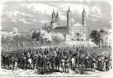 VERCELLI: Arrivo Esercito del Regno di Sardegna.Risorgimento. Stampa Antica.1859