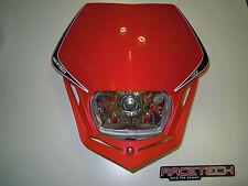 Mascherina Faro Anteriore Racetech Headlight V-face ROSSO Honda Red Enduro Rtech