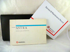 VAUXHALL ASTRA CONVERTIBLE SERVICE BOOK HANDBOOK & WALLET PACK - 1991 To 1998