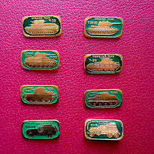 Pin RUSSIA. USSR Vintage Badge .Full set of 8. Russian Tanks. Chars, Blindés.