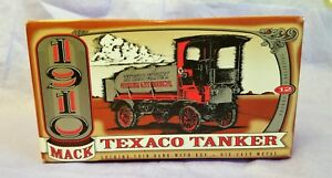 ERTL DIECAST  BANK #F122 TEXACO TANKER  1910 MACK ~ USA NIB