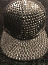 Diamond Cut Baseball Cap Adjustable Size Black Sparkle In Night Time Rare