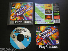 JEU Sony PLAYSTATION PS1 PS2 : MISSILE COMMAND (Atari COMPLET envoi suivi)