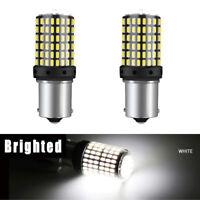 2x 1156 BA15S 3014 144SMD 18W Weiß LED Blinker Lampe Rücklicht Glühbirnen 12-24V