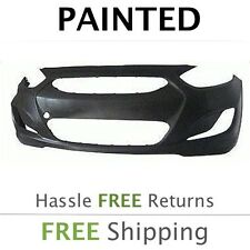 NEW Fits: 2012 2013 Hyundai Accent Sedan Front Bumper Painted HY1000188